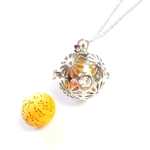 Sunflower Diffuser Necklace