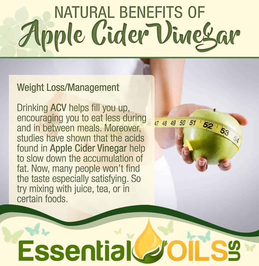 Apple Cider Vinegar Benefits - Weight Loss/Management