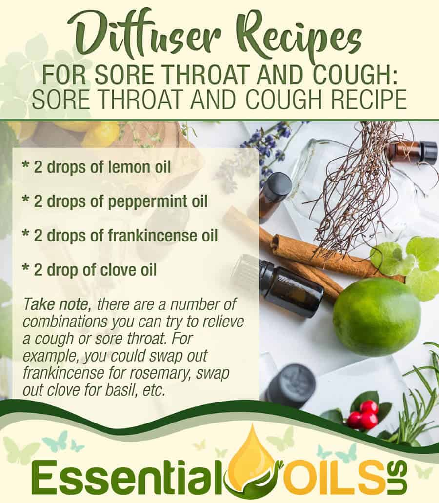 Diffuser Recipe - Sore Throat And Cough Recipe