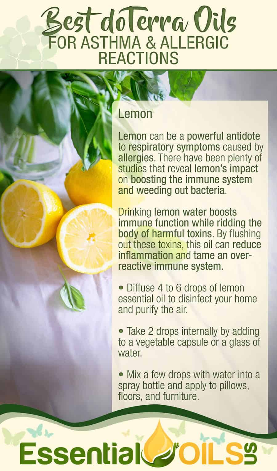 doTerra Essential Oils For Asthma And Allergy - Lemon