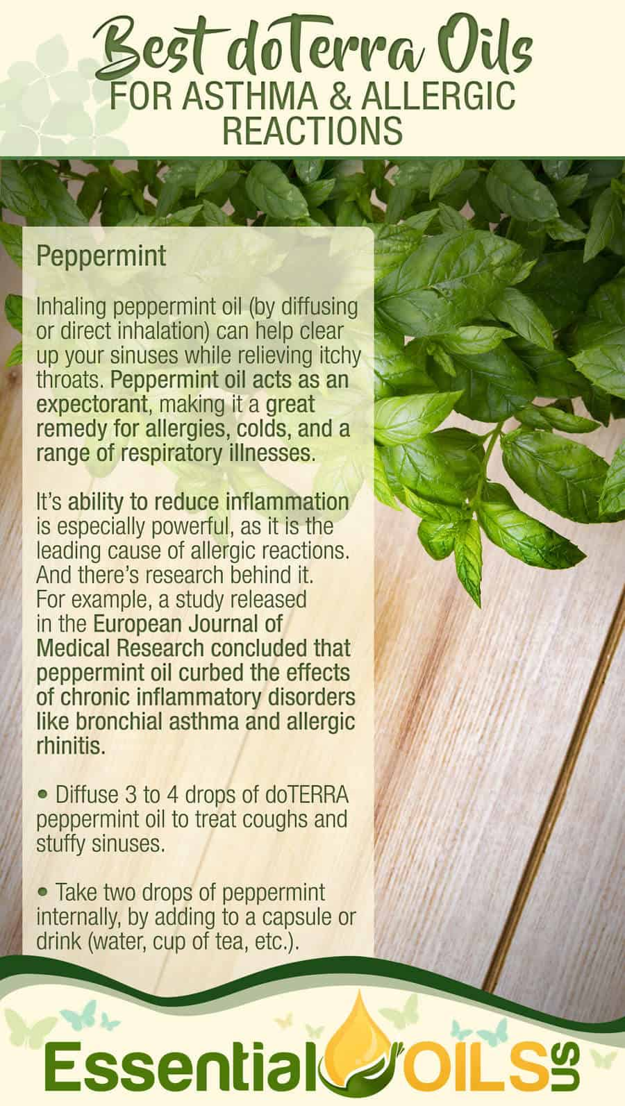 doTerra Essential Oils For Asthma And Allergy - Peppermint