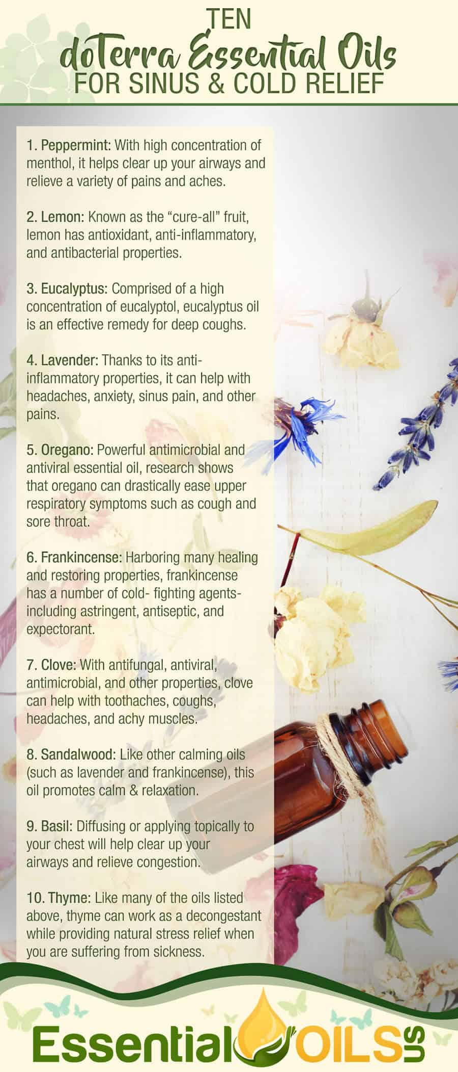 doTerra Oils For Colds And Sinus
