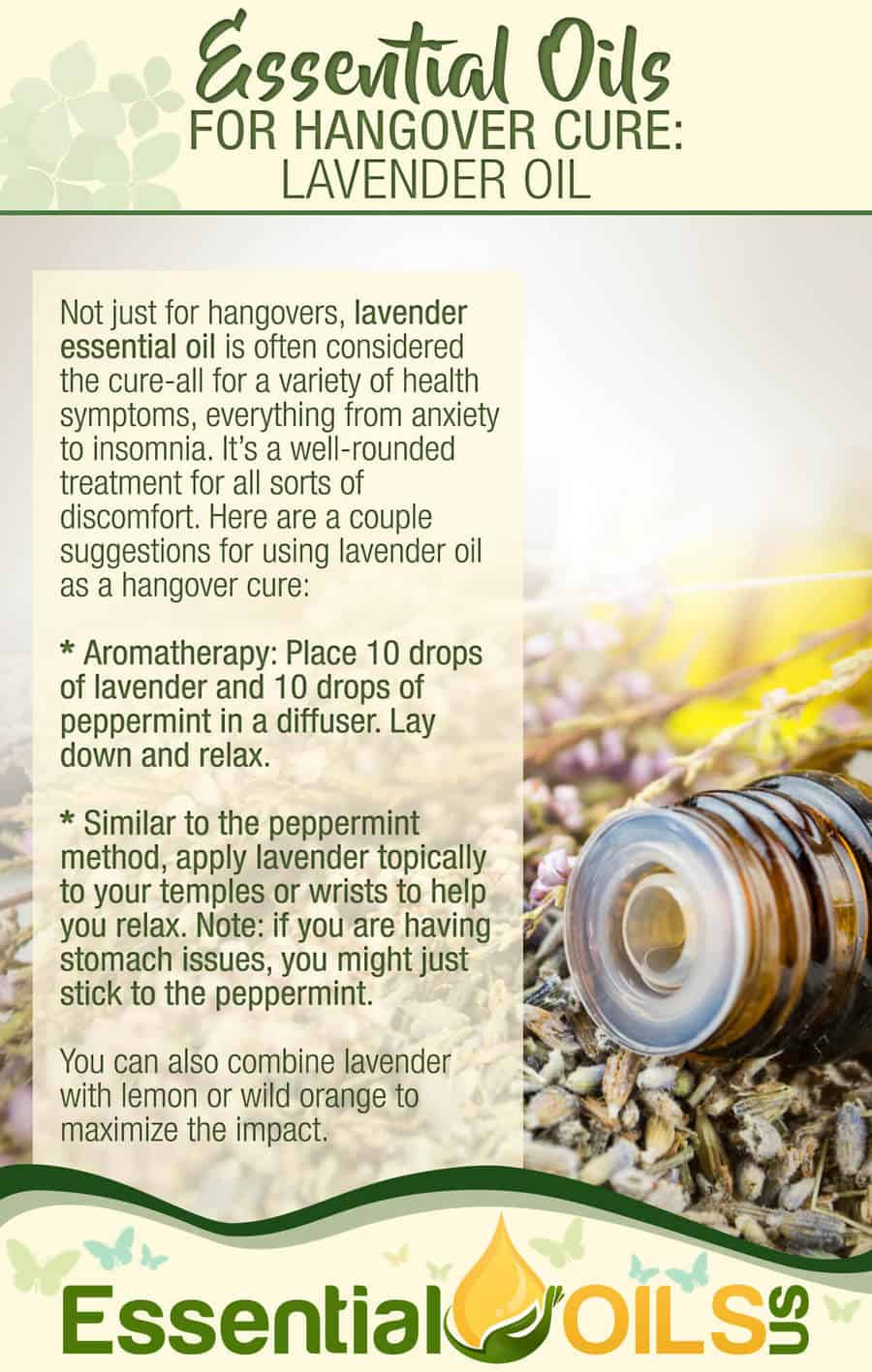 Essential Oils For Hangover - Lavender