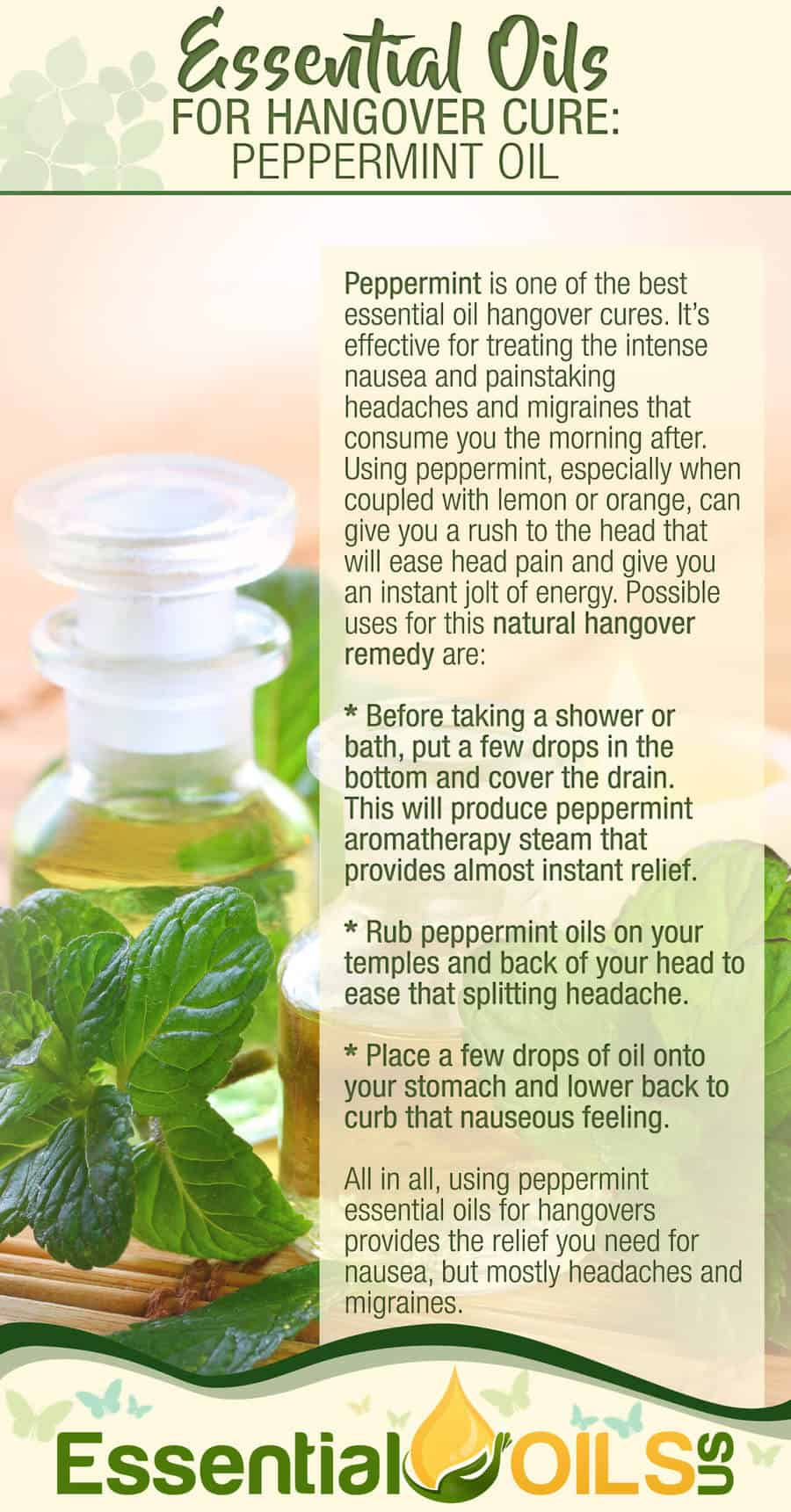 Essential Oils For Hangover - Peppermint