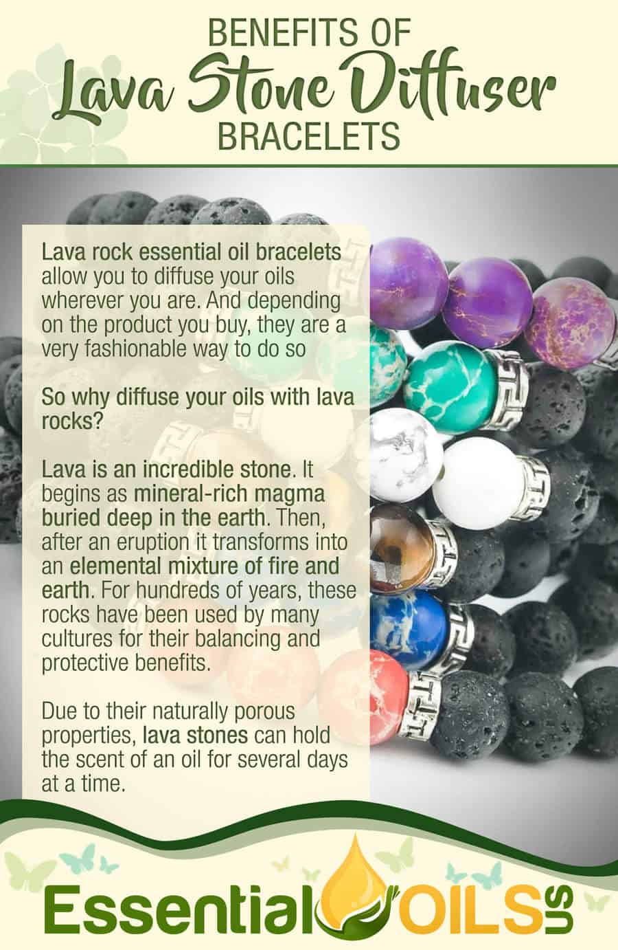Lava Stone Essential Oil Bracelets - Benefits